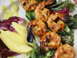A Shrimp Dinner is Attractively Served at Emerald Lake Lodge by Michael Melford