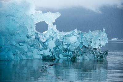 An Iceberg from Le Conte Glacier Near Petersburg, Inside Passage, Alaska by Michael Melford