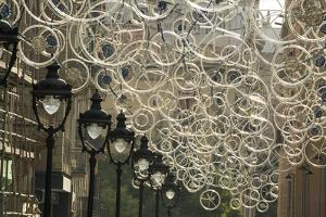 Bicycle Parts Turned into Hanging Art by Michael Melford