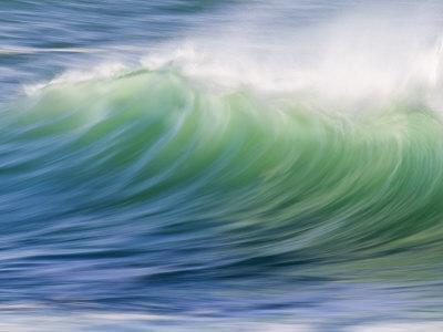 Breaking Wave in Blue and Green Atlantic Water