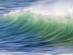 Breaking Wave in Blue and Green Atlantic Water by Michael Melford
