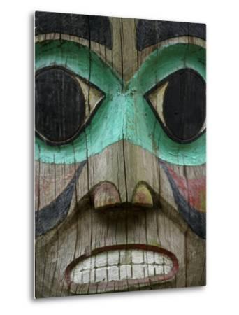 Carved Wooden Face at the Governor's Mansion in Juneau, Alaska