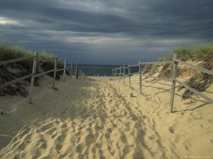 Fence-Lined Path To the Beach at Cape Cod National Seashore by Michael Melford