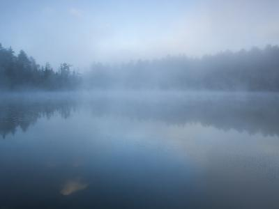 Fog Blankets Eagle Lake at Dawn