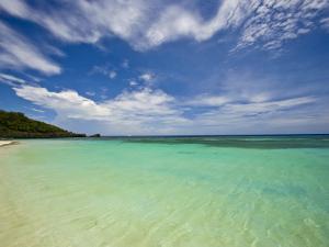 Gentle Waves Lap West Bay Beach in Roatan, Honduras by Michael Melford