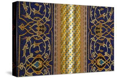 Gilded Mosaic Designs Inside the Sultan Qaboos Grand Mosque