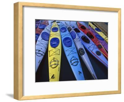 Group of Colorful Sea Kayaks