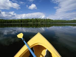Kayakers View from Boat at Nancy Lake State Recreation Area by Michael Melford