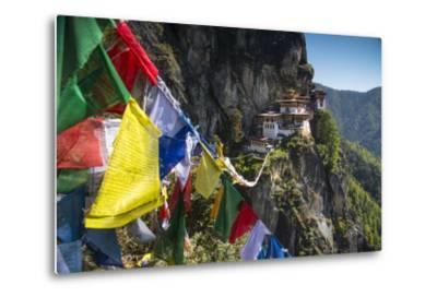 Prayer Flags Span the Chasm before the Tiger's Nest Monastery
