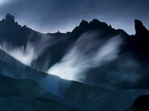 Steam vents between ridges at the base of Mount Zubchatka by Michael Melford