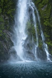 Stirling Falls on Milford Track in Fiordland National Park by Michael Melford