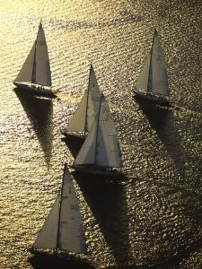 Sunlight on the Water and Sailboats by Michael Melford