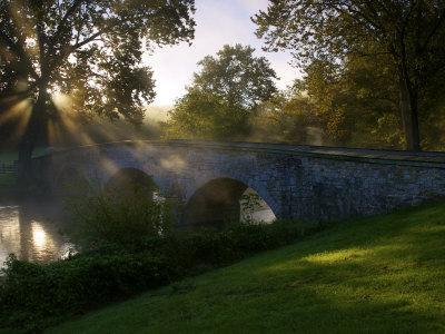 Sunrise over the Burnside Bridge over Antietam Creek