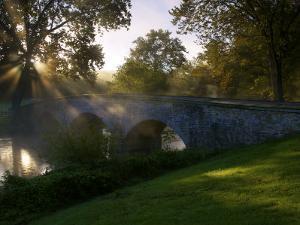 Sunrise over the Burnside Bridge over Antietam Creek by Michael Melford