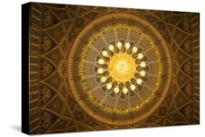 The Chandelier Above the Praying Hall Inside the Sultan Qaboos Grand Mosque, from Directly Below