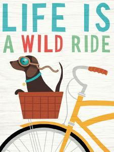 Beach Bums Dachshund Bicycle I Life by Michael Mullan