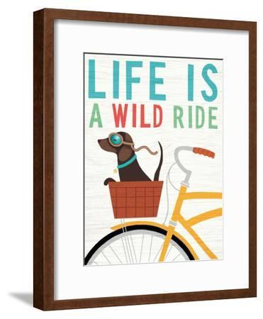 Beach Bums Dachshund Bicycle I Life by Michael Mullan