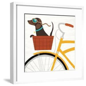 Beach Bums Dachshund Bicycle I by Michael Mullan