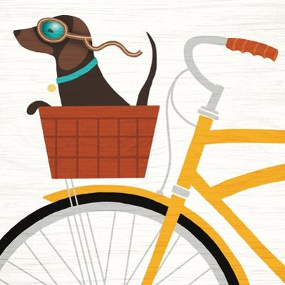 Beach Bums Dachshund Bicycle I by Michael Mullan