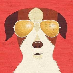 Beach Bums Terrier I by Michael Mullan