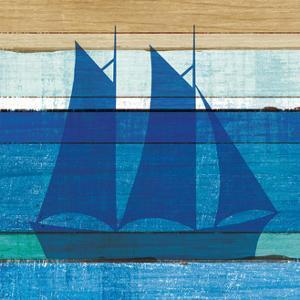 Beachscape V Boat by Michael Mullan