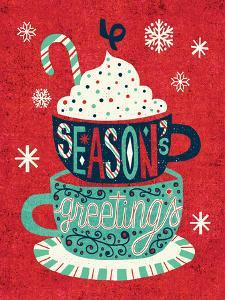 Festive Holiday Cocoa Seasons Greetings by Michael Mullan