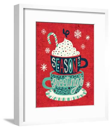 Festive Holiday Cocoa Seasons Greetings