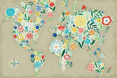 Floral World Tan by Michael Mullan