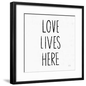 Love Lives Here Sq BW by Michael Mullan