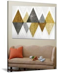 Mod Triangles II Gold by Michael Mullan
