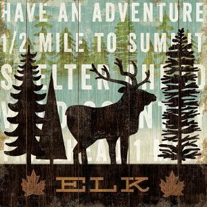 Simple Living Elk by Michael Mullan