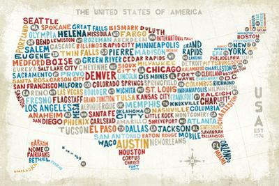 US City Map by Michael Mullan