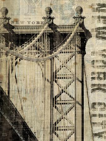 Vintage NY Manhattan Bridge by Michael Mullan