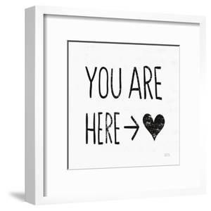 You Are Here Sq BW by Michael Mullan