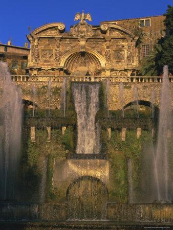 Grand Fountain in the Gardens of the Villa d'Este, Unesco World Heritage Site, Tivoli, Lazio, Italy
