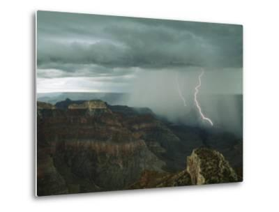 Lightning Arcs into the Grand Canyon's Depths Near Point Sublime