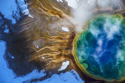 Yellowstone's Grand Prismatic Spring, the largest hot spring in the United States.