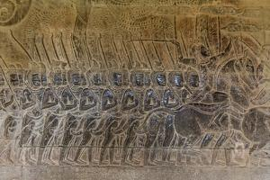 Bas-Relief Carvings, Angkor Wat, Angkor, UNESCO World Heritage Site, Siem Reap, Cambodia, Indochina by Michael Nolan