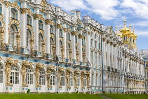 Exterior View of the Catherine Palace, Tsarskoe Selo, St. Petersburg, Russia, Europe by Michael Nolan