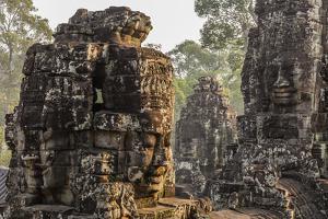 Four-Faced Towers in Prasat Bayon, Angkor Thom, Angkor, Siem Reap, Cambodia by Michael Nolan