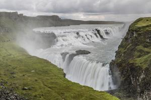 Gullfoss (Golden Falls), a Waterfall Located in the Canyon of the Hvita River in Southwest Iceland by Michael Nolan