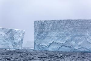 Huge Tabular Icebergs Broken Off from B-17A Iceberg Near Cooper Bay, Polar Regions by Michael Nolan