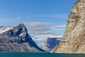 Snow-Capped Peaks and Glaciers in Icy Arm, Baffin Island, Nunavut, Canada, North America by Michael Nolan