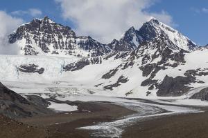 Snow-Capped Peaks Surround St. Andrews Bay, South Georgia, Polar Regions by Michael Nolan