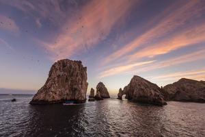 Sunrise over Land's End, Finnisterra, Cabo San Lucas, Baja California Sur, Mexico, North America by Michael Nolan