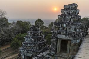 Sunset View from Phnom Bakheng, Angkor, UNESCO World Heritage Site, Siem Reap, Cambodia, Indochina by Michael Nolan
