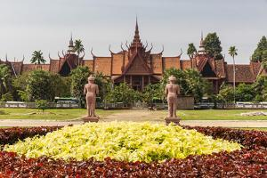 The National Museum of Cambodia in the Capital City of Phnom Penh, Cambodia, Indochina by Michael Nolan