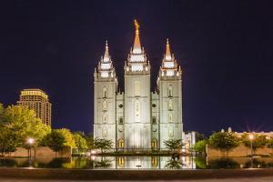 The Salt Lake Temple at Night by Michael Nolan