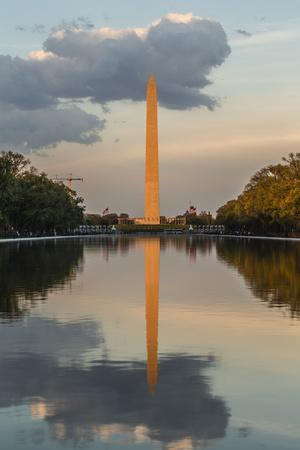 The Washington Monument with Reflection as Seen from the Lincoln Memorial
