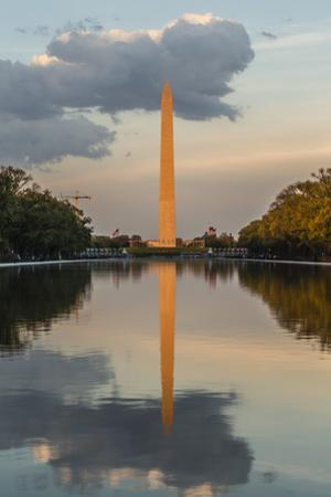 The Washington Monument with Reflection as Seen from the Lincoln Memorial by Michael Nolan